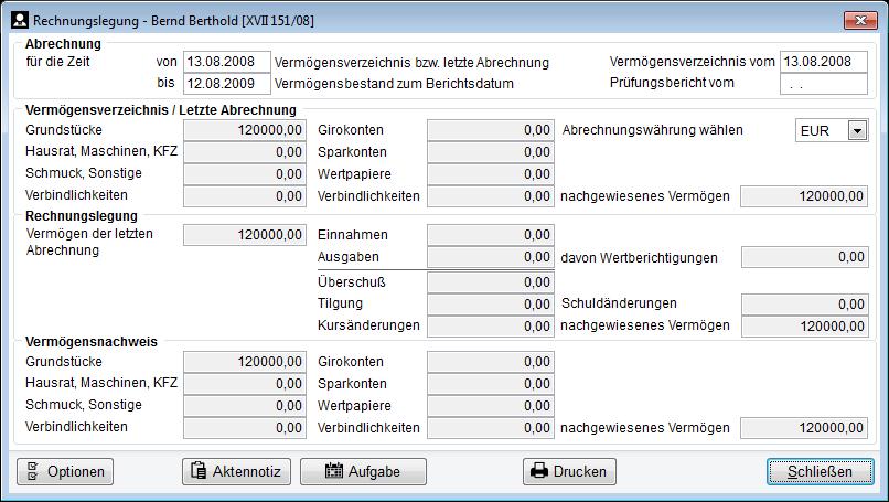 Rechnungslegung Betreuungde Software Für Rechtliche Betreuung