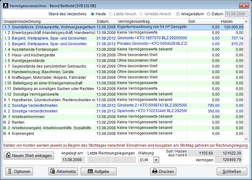 Vermögensverzeichnis Betreuungde Software Für Rechtliche Betreuung