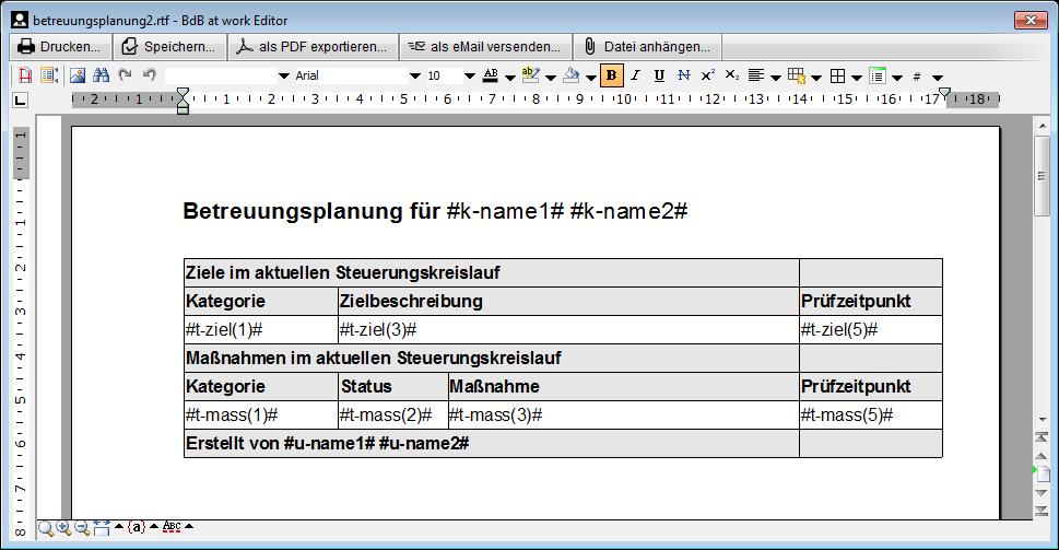 Dokumentvorlagen – betreuung.de