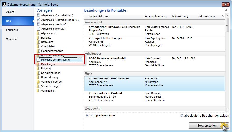Dokumentvorlagen – betreuung.de | Software für rechtliche Betreuung