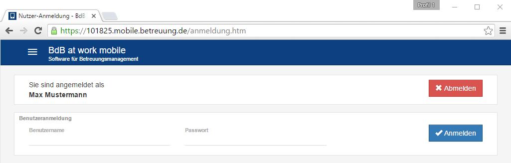 Angemeldeten Benutzer wieder manuell abmelden