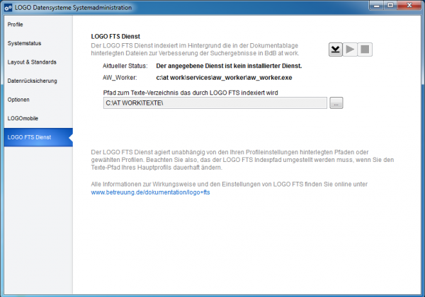 LOGO FTS Dienst im BdB at work Administrationsprogramm