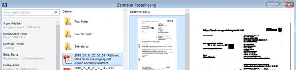 Der neue Zentrale Posteingang||Alle Arbeitsschritte für eingehenden Schriftverkehr in einem Fenster vereint