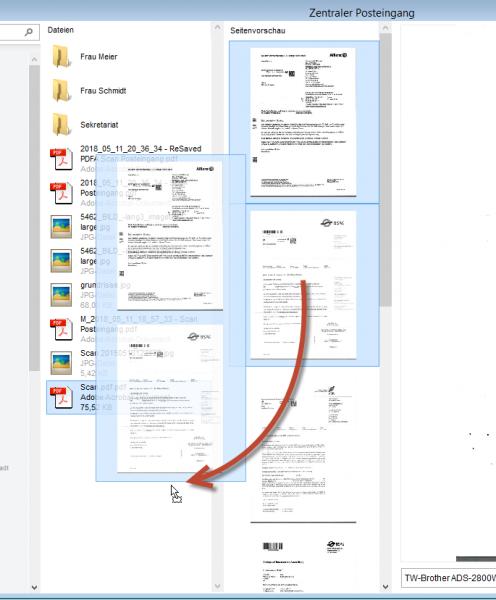 Gescannte Seiten zu PDF überführen